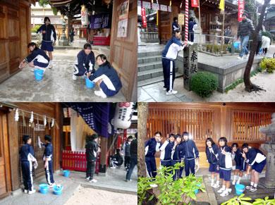 櫛田神社清掃奉仕活動
