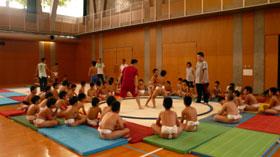 相撲大会の練習開始