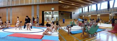 博多小学校 相撲の練習
