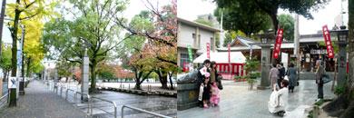 冷泉公園と櫛田神社の七五三
