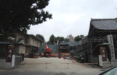 櫛田神社 山笠準備中
