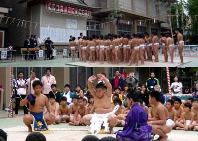櫛田神社にて相撲大会