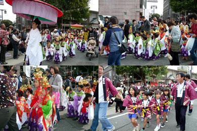 稚児行列と獅子頭パレード